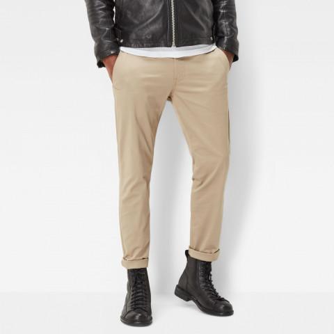 pantalon homme G-STAR Bronson chino en toile gris beige camel bleu marine référence D01794-5126, Cloane vetements Homme Vannes